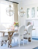 Fancy french country dining room table decor ideas 11