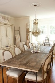Fancy french country dining room table decor ideas 16