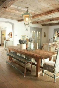 Fancy french country dining room table decor ideas 20