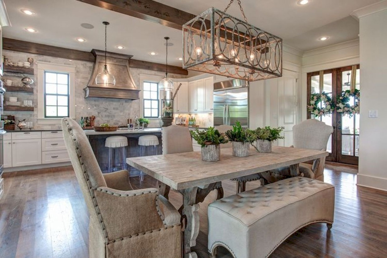 Fancy French Country Dining Room Table Decor Ideas 22 Roundecor