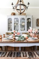 Fancy french country dining room table decor ideas 24