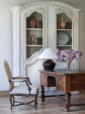 Fancy french country dining room table decor ideas 40