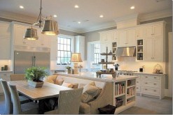 Fascinating kitchen islands ideas with seating and dining areas (14)