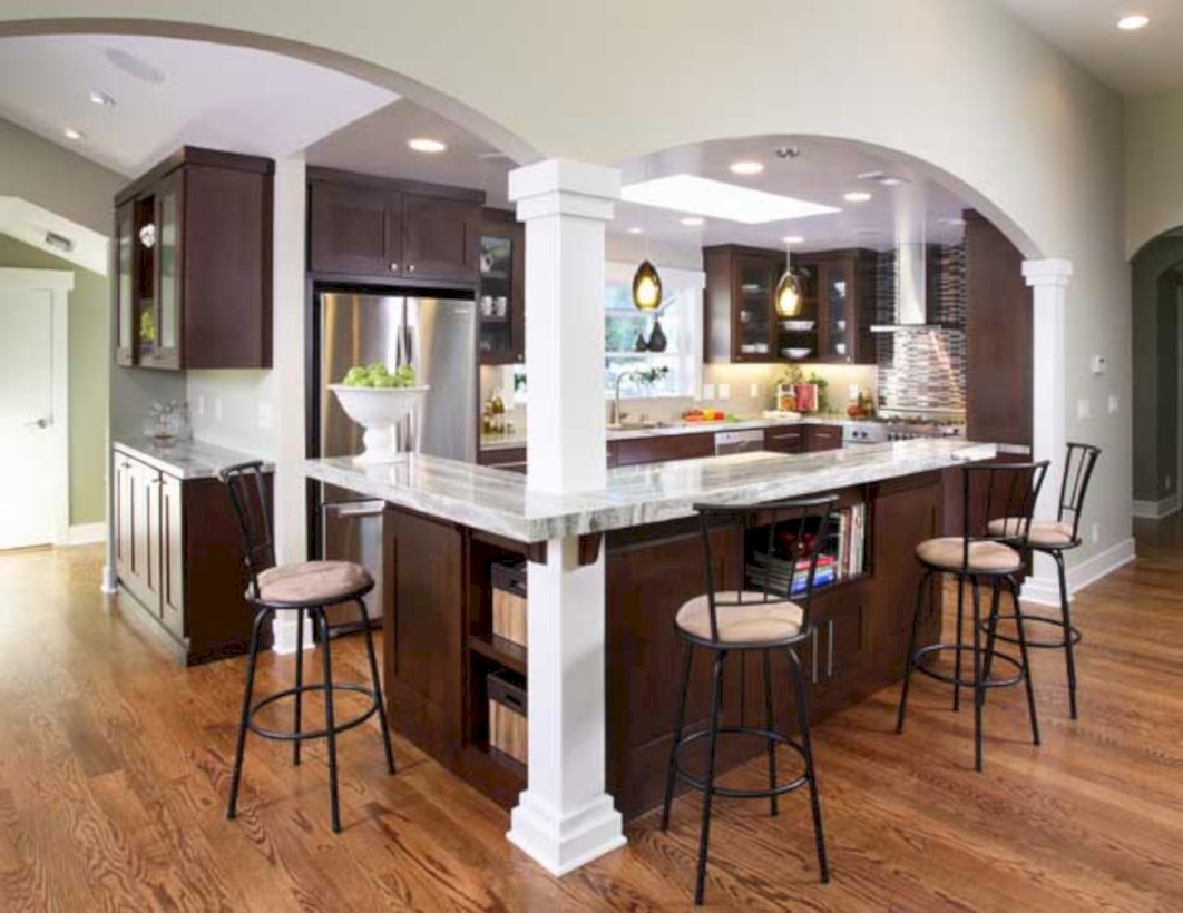 Fascinating kitchen islands ideas with seating and dining areas (20)