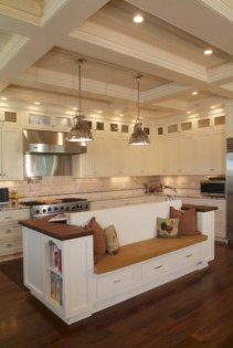 Fascinating kitchen islands ideas with seating and dining areas (25)