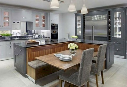 Fascinating kitchen islands ideas with seating and dining areas (35)