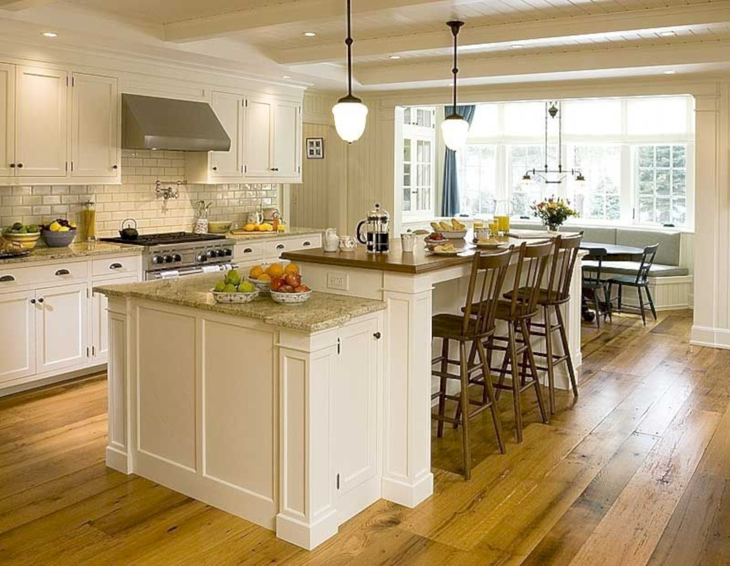 Fascinating kitchen islands ideas with seating and dining areas (7)