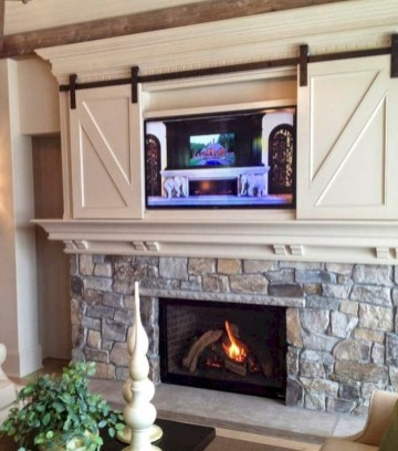 Gorgeous apartment fireplace decor ideas (13)