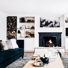 Gorgeous apartment fireplace decor ideas (35)