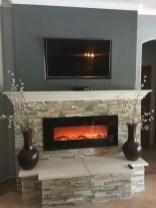 Gorgeous apartment fireplace decor ideas (9)