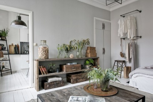 Inspiring grey studio apartment decor ideas on a budget (17)