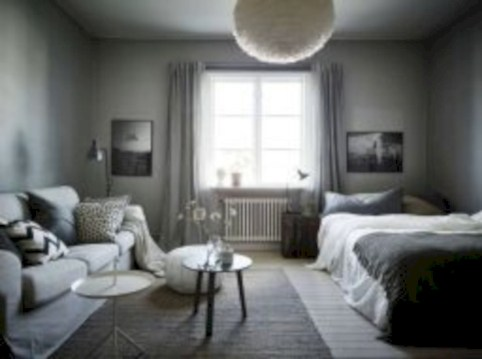 Inspiring grey studio apartment decor ideas on a budget (24)