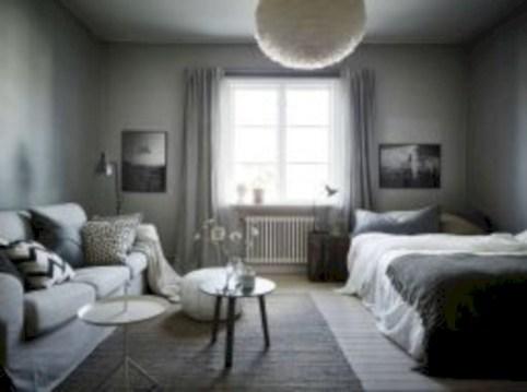 Inspiring grey studio apartment decor ideas on a budget (24)