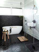 Luxury black and white bathroom design ideas 02