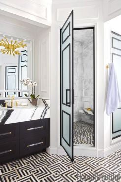 Luxury black and white bathroom design ideas 12