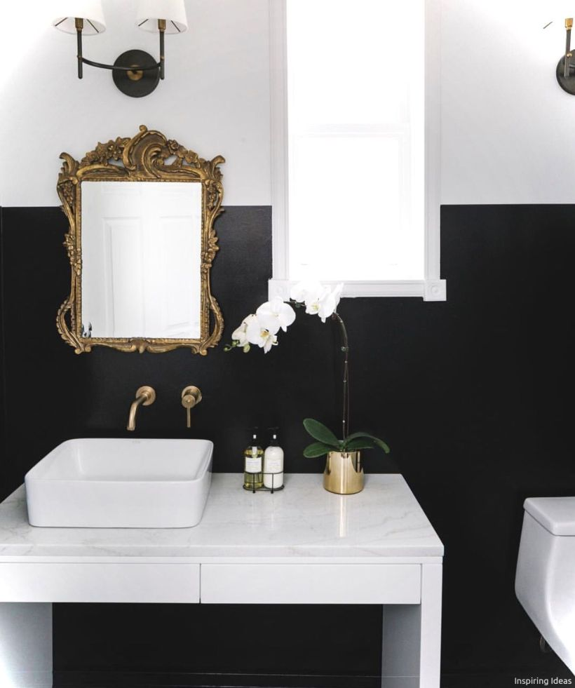 Luxury black and white bathroom design ideas 15