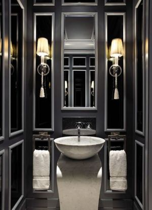 Luxury black and white bathroom design ideas 26