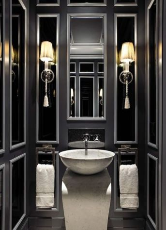 Luxury black and white bathroom design ideas 26