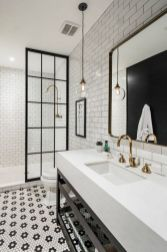 Luxury black and white bathroom design ideas 32