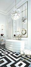 Luxury black and white bathroom design ideas 33