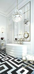 Luxury black and white bathroom design ideas 33