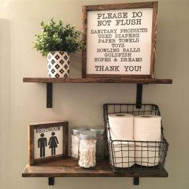 Modern farmhouse bathroom decor ideas (10)