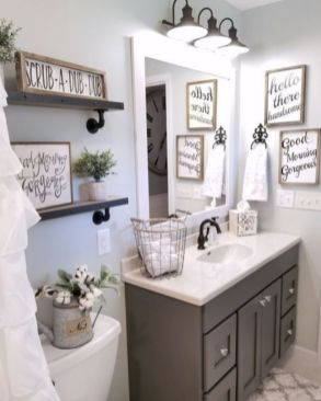 Modern farmhouse bathroom decor ideas (36)