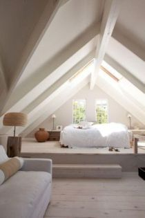 Nice loft bedroom design decor ideas 08