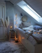 Nice loft bedroom design decor ideas 14