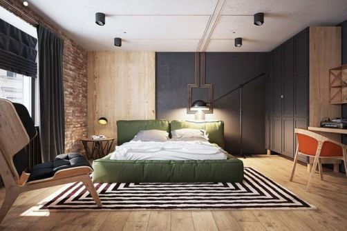 Nice loft bedroom design decor ideas 21