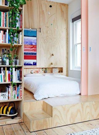 Nice loft bedroom design decor ideas 34