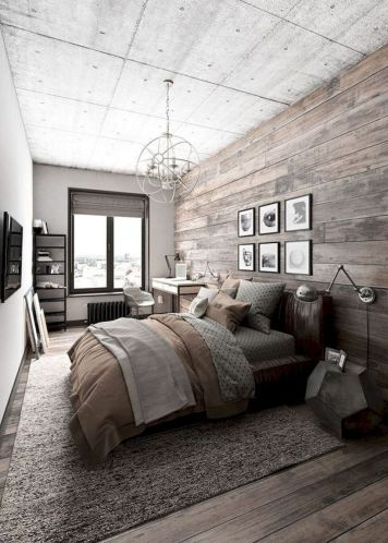 Nice loft bedroom design decor ideas 35