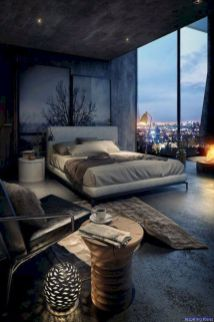 Nice loft bedroom design decor ideas 43