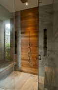 Simple and cozy farmhouse wooden bathroom inspirations ideas 38
