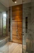 Simple and cozy farmhouse wooden bathroom inspirations ideas 38