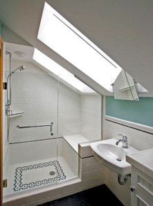 Stunning attic bathroom makeover ideas on a budget 20