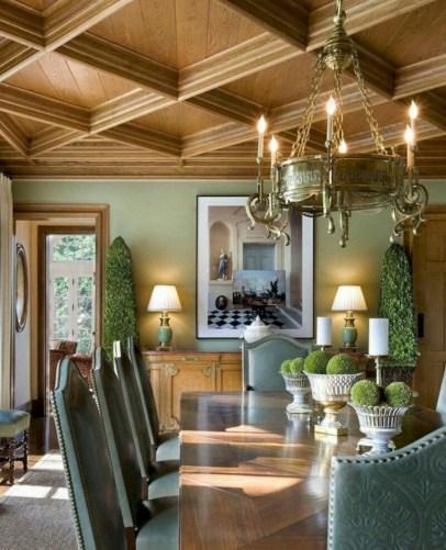 Vintage victorian dining room decor ideas (11)