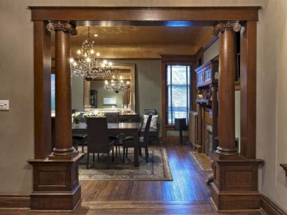 Vintage victorian dining room decor ideas (16)