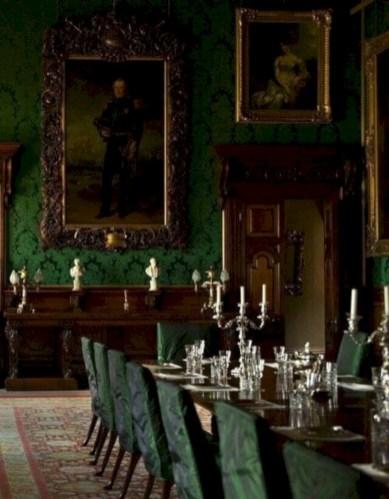 Vintage victorian dining room decor ideas (27)