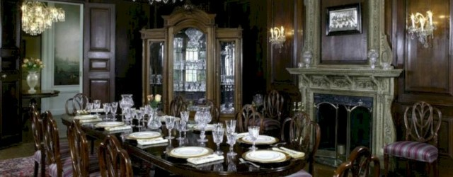 Vintage victorian dining room decor ideas (44)