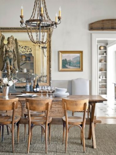 Vintage victorian dining room decor ideas (5)