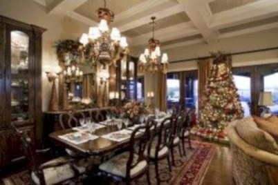 Vintage victorian dining room decor ideas (7)