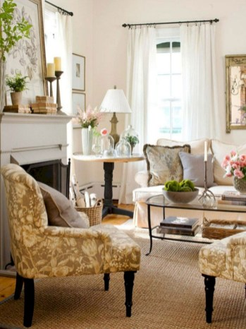 Beautiful french country living room ideas 41