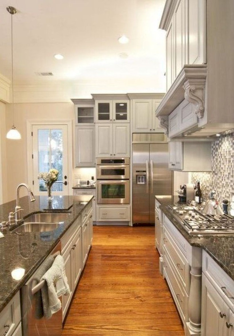 Beautiful gray kitchen cabinets design ideas 12