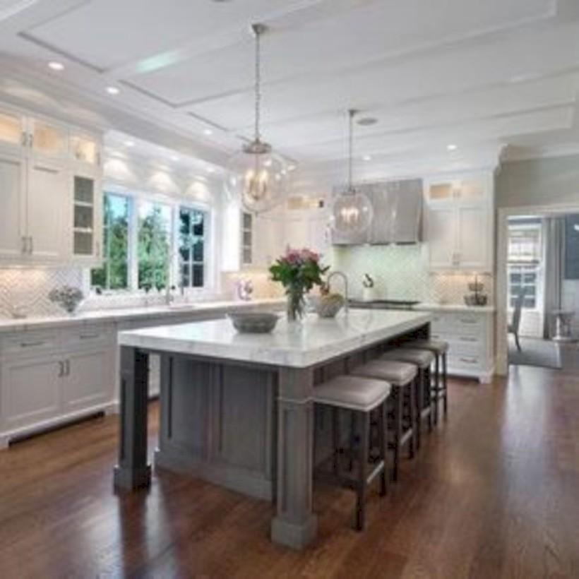 Beautiful gray kitchen cabinets design ideas 15