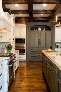 Beautiful gray kitchen cabinets design ideas 26