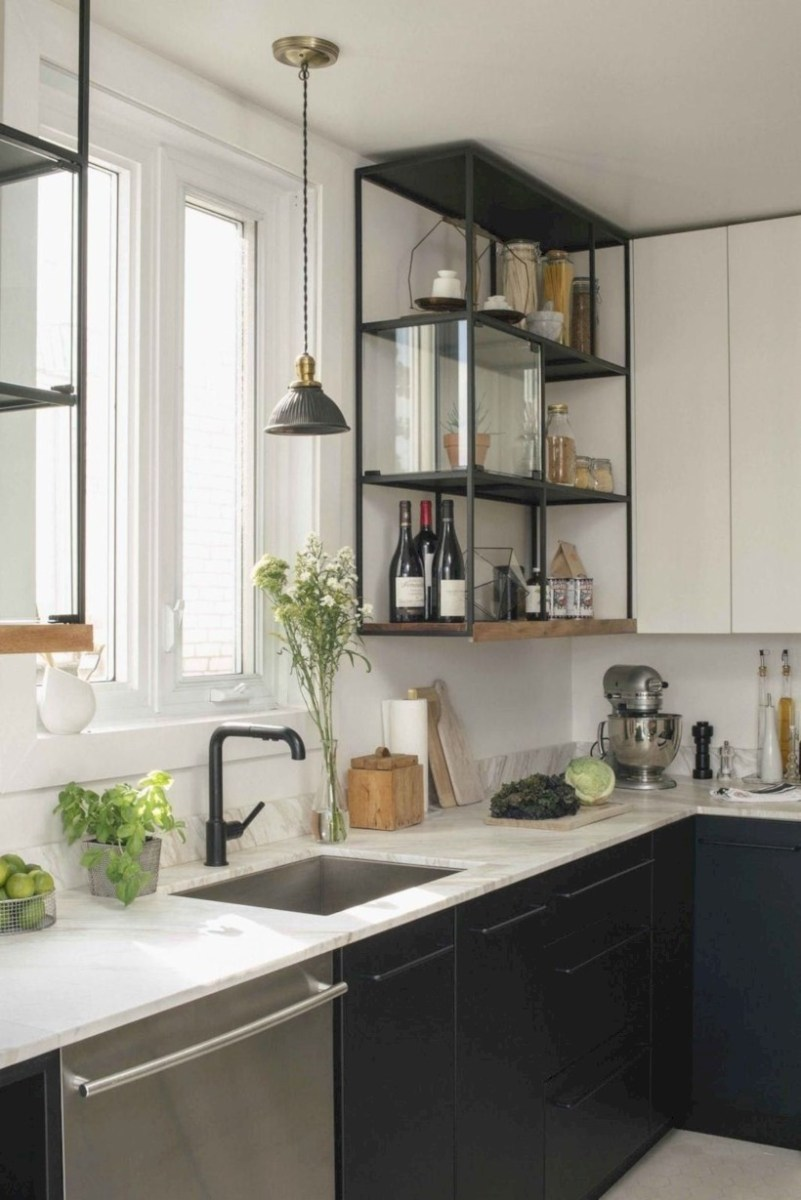 Beautiful gray kitchen cabinets design ideas 32