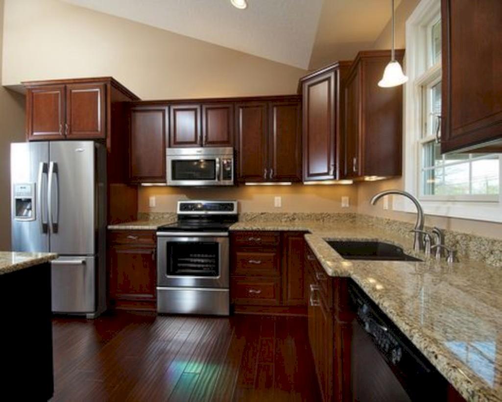 Beautiful gray kitchen cabinets design ideas 44
