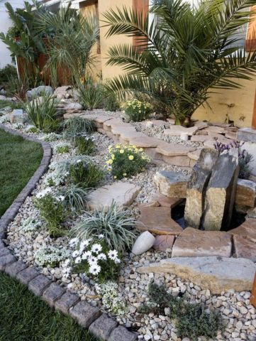 Beautiful rock garden landscaping ideas 24