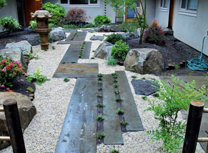 Beautiful rock garden landscaping ideas 28